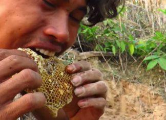 eating raw honey as food