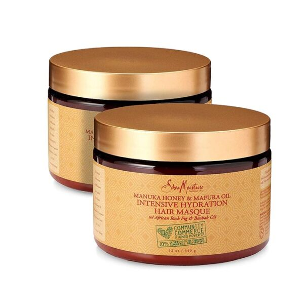 Shea Moisture manuka honey mafura oil intensive hydration masque 12 oz 2 pack